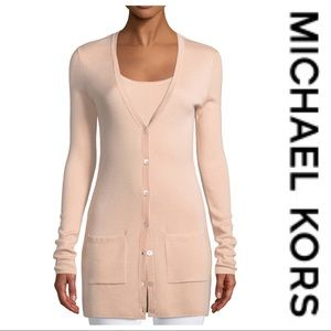 💕SALE💕 Michael Kors Lavender Long Cardigan